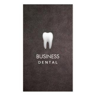 Cita dental de cuero elegante moderna tarjetas de visita