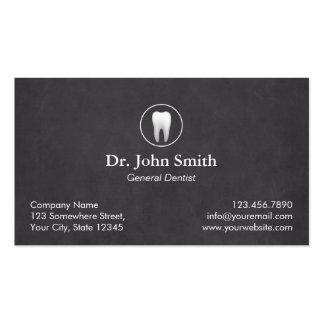 Cita dental de la pizarra llana del dentista tarjetas de visita