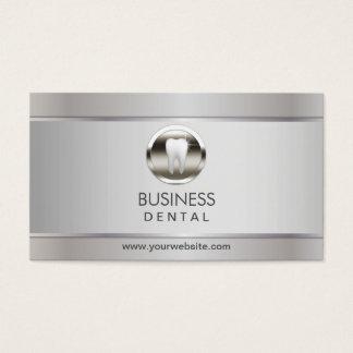 Cita dental de plata profesional tarjeta de visita