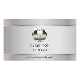 Cita dental de plata profesional tarjetas de visita