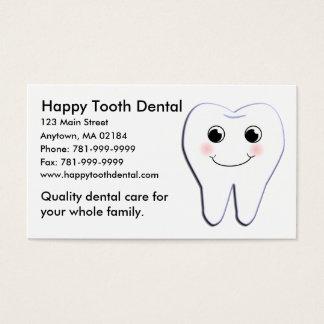 Cita dental del diente feliz de encargo del KRW Tarjeta De Visita