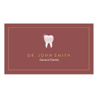 Cita dental del marco del diente de oro de la tarjetas de visita