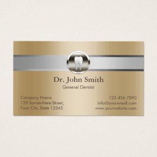 Cita dental del oro de plata de la raya del tarjeta de visita