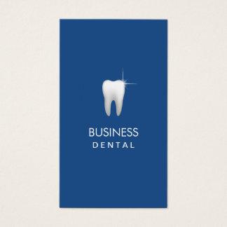 Cita dental llana del profesional del azul real tarjeta de visita