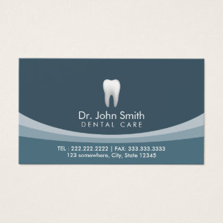 Cita dental profesional azul moderna tarjeta de visita
