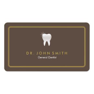 Cita dental redondeada del diente de Brown del Tarjetas De Visita