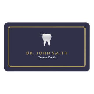 Cita dental redondeada del diente del azul real tarjetas de visita