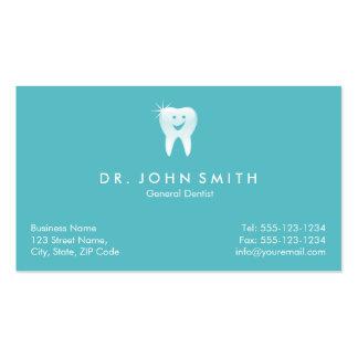 Cita dental sonriente brillante del diente de la tarjetas de visita