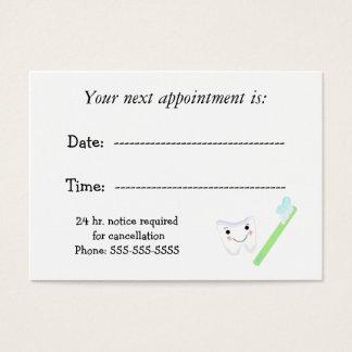 Cita dental tarjeta de negocios