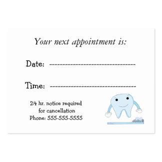 Cita dental plantillas de tarjetas de visita