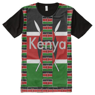 Cita divertida de Kenia Raha Hakuna Matata Camiseta Con Estampado Integral
