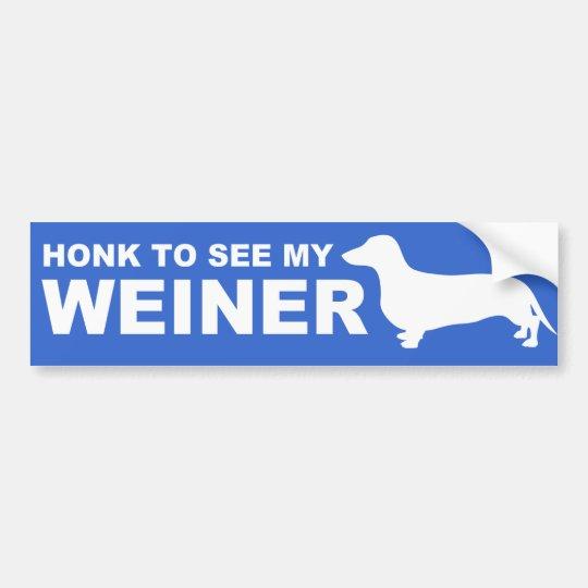Cita divertida del perro de Weiner (Dachshund) Pegatina Para Coche
