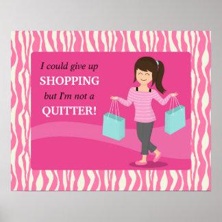 Cita divertida femenina de las compras no un impresiones