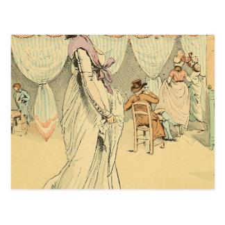 Cita en el café de Tuileries 1898 Postal