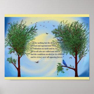 Cita espiritual del poster del arte de Sri