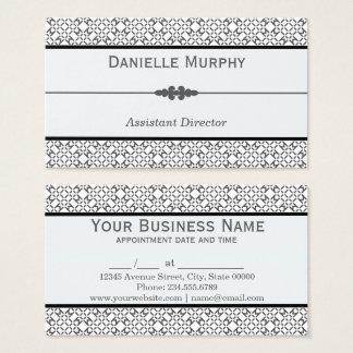 Cita geométrica gris y blanca elegante tarjeta de negocios