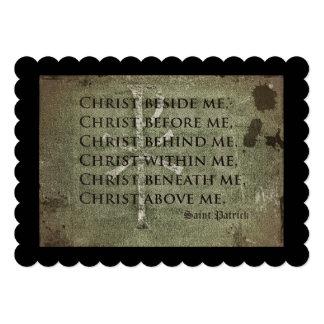 Cita histórica de San Patricio Invitación 12,7 X 17,8 Cm