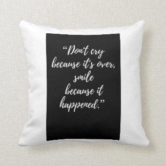 cita inspirada de la almohada de la cita