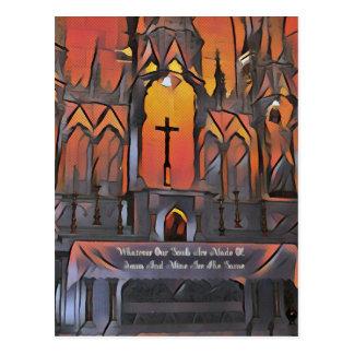 Cita inspirada de la cruz artística del santuario postal