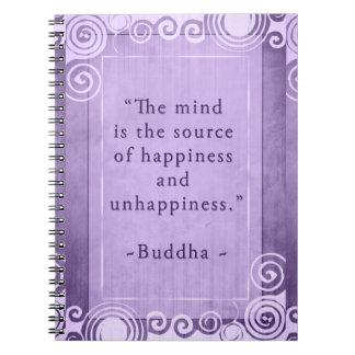Cita inspirada de la felicidad de Buda Cuaderno