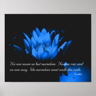 Cita inspirada de la flor de Lotus que brilla inte Posters