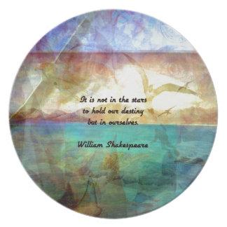 Cita inspirada de Shakespeare sobre destino Plato