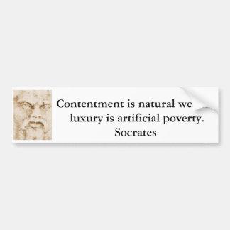 Cita inspirada de Sócrates Pegatina Para Coche
