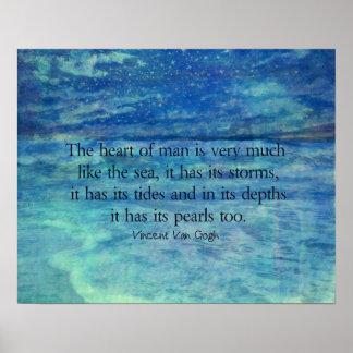 Cita inspirada del mar del océano póster