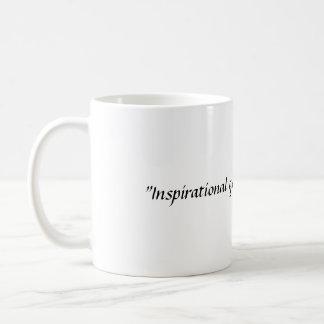 Cita inspirada en letras de lujo tazas de café