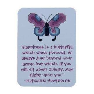 Cita Magn de la felicidad de la mariposa de Nathan Imán