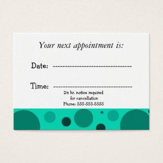 Cita médica tarjeta de negocios