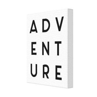 Cita minimalista de la aventura lienzo