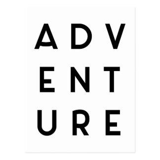 Cita minimalista de la aventura postal