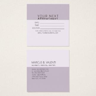 Cita minimalista de moda femenina femenina de la tarjeta de visita cuadrada