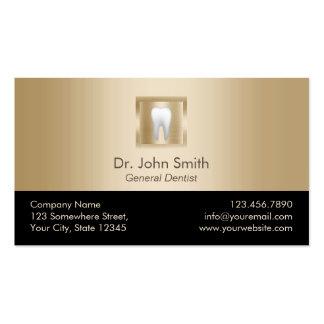 Cita moderna del cuidado dental del oro del tarjetas de visita