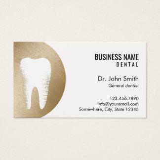 Cita moderna del dentista del oro de la oficina tarjeta de negocios