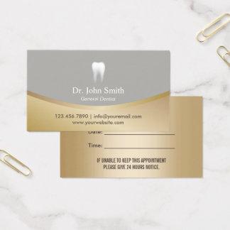 Cita moderna del oro y de la plata de la clínica tarjeta de visita