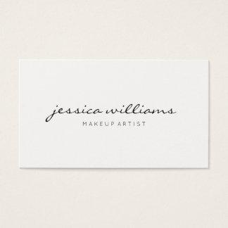 Cita moderna minimalista tarjeta de negocios