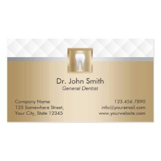 Cita moderna real del cuidado dental del oro tarjetas de visita