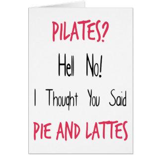 Cita, negro y rosa divertidos de Pilates Tarjeta De Felicitación