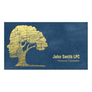Cita personal del consejero de la psicología azul tarjetas de visita