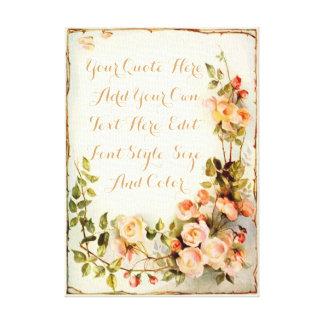 Cita personalizada con los rosas lienzo