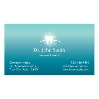 Cita profesional del dentista del cuidado dental tarjetas de visita