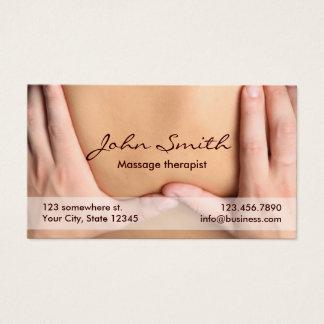 Cita profesional del terapeuta de la terapia del tarjeta de negocios