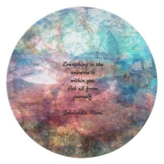 Cita que eleva de Rumi sobre energía y el universo Plato