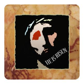 Cita religiosa del verso de la biblia de Pascua Invitación 13,3 Cm X 13,3cm