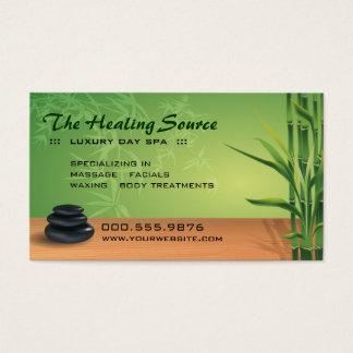 Cita serena del masaje y del balneario tarjeta de negocios