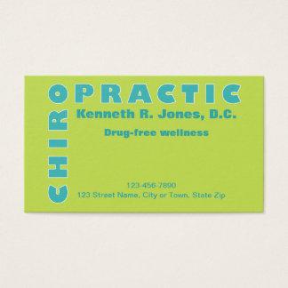 Cita tipográfica de la quiropráctica profesional tarjeta de visita