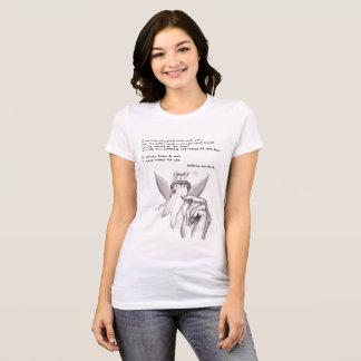 cita y arte blancos y negros del caramelo de camiseta