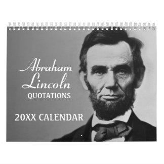 Citas de Abe Lincoln con la foto Calendario
